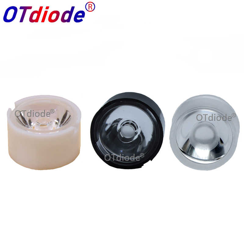 10pcs 13mm CREE LED Lens 10 30 45 60 90 Degree XPE2 XPG2 XTE Epiled/Semiled 3535 3030 Emitter Plano Reflector Collimator