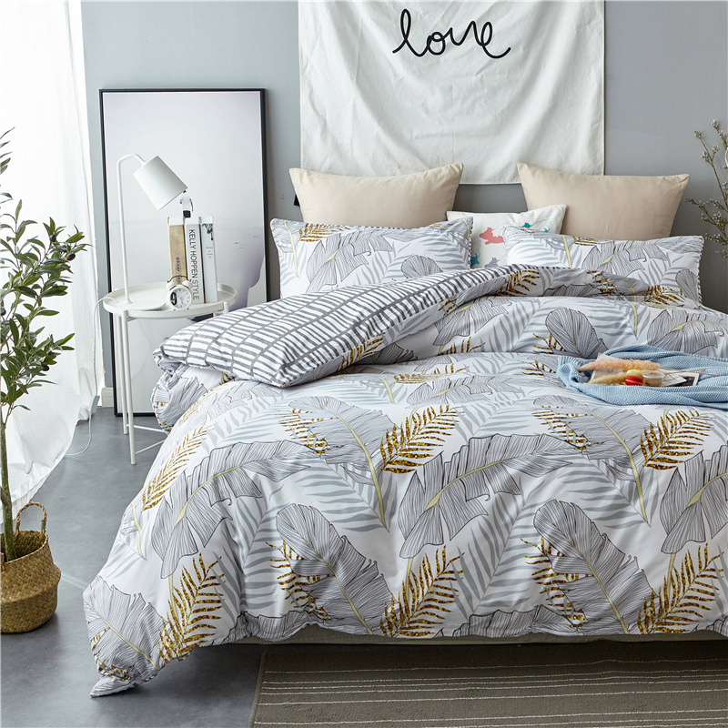 Digital Printing Northern European-Style Modern Three-piece Home Textile Set Pieces Of Sets Of Bedding Article
