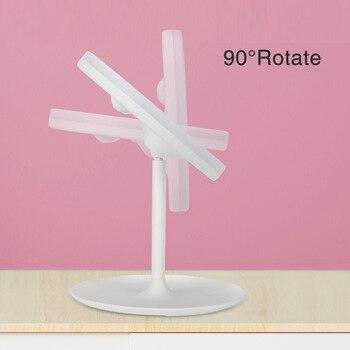 LED Light Makeup Mirror Vanity Table Lamp Fashion 360° Rotation Brightness Adjustable Beauty Cosmetic Mirror Drop Shipping 5