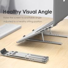 LINGCHEN soporte para portátil para MacBook Pro, soporte plegable de aleación de aluminio para Tablet, portátil