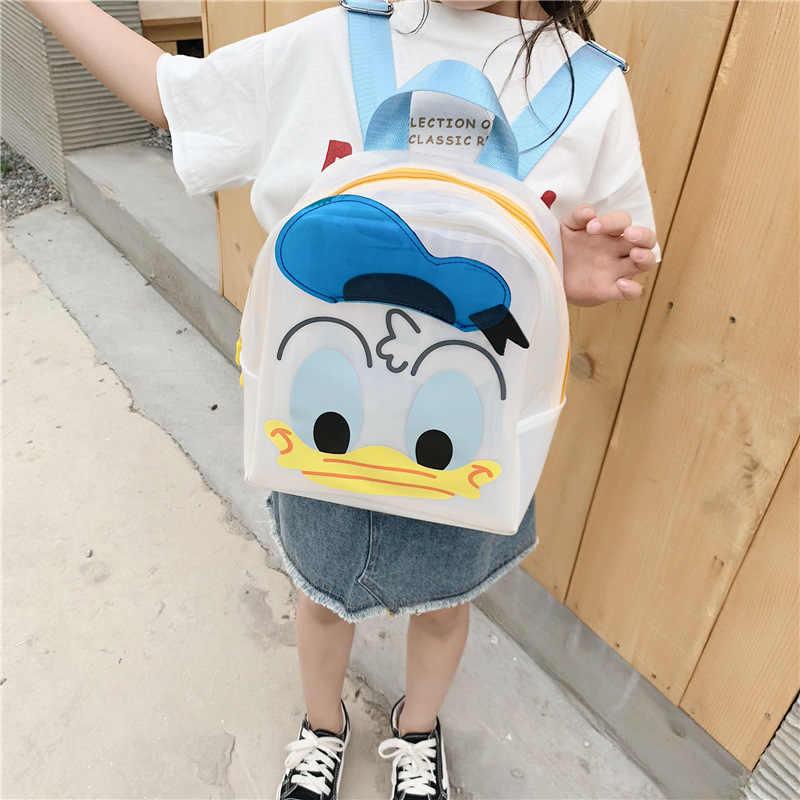 דיסני דונלד ברווז בני בנות תינוק PU תרמיל 1-6 שנים ישן קריקטורה כתף תיק אופנה ג 'לי ילדי ילקוט תיק