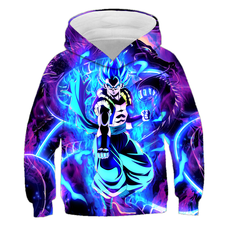 Cartoon Fashion Dragon Ball 3D Child Hoodie Sweatshirts Hoodie Dragon Ball Z Anime Fashion Casual Tracksuits Boy Hooded Pullover