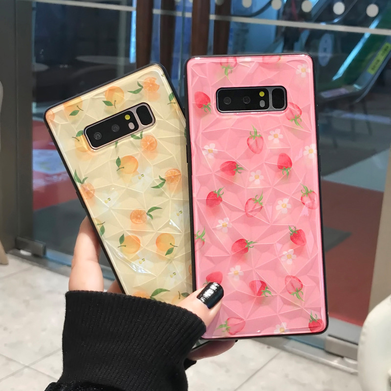 Buy For iPhone X XS MAX XR 8 8 Plus 7 7 Plus 6 6S 6S Plus Cartoon Strawberry Lemon Phone Cover 3D Diamond Cases For iPhone Series for only 5.08 USD