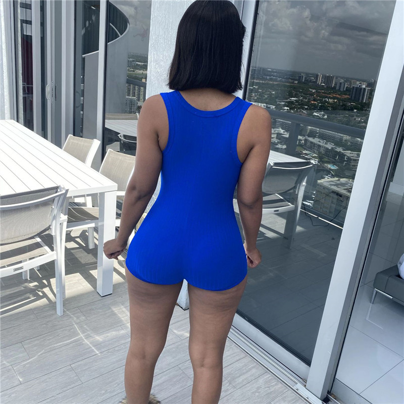 hirigin Fitness Casual Playsuit Bodysuit Women Clothes Sleeveless V neck Rompers Women Jumpsuit Shorts Sportwear Overalls 2021
