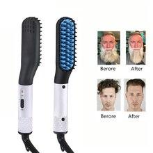 NEW Beard Straightener Multifunctional Hair Comb Brush Electric Quick Heating  Hair Straightening Iron Hair Styling Comb For Men