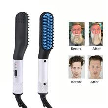 NEW Beard Straightener Multifunctional Hair Comb Brush Elect