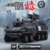 KDW 1:50 Alloy Military Truck Toy Cars Transport Vehicle Van Transporter The Wondering Earth Model Collection Toys For Children