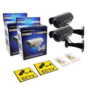 Image 5 - JOOAN 2 sztuk na zewnątrz atrapa kamery nadzoru bezprzewodowe LED light fałszywa kamera domu kamery bezpieczeństwa CCTV symulowane nadzoru