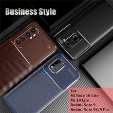 цена на For Xiaomi Mi Note 10 Lite Case Hard Armor Silicone Shell Rubber Protective Case For Mi Note 10 Lite Cover For Xiaomi Mi 10 Lite