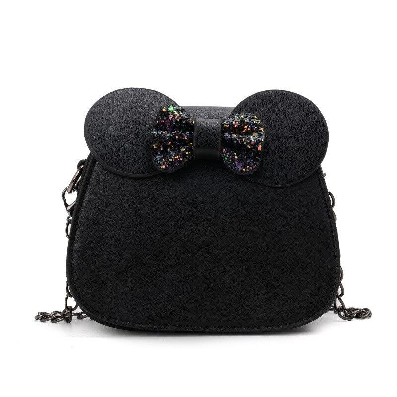 Cute Bowknot Backpack Toddler Kids Casual PU Sequins Body Cross Bag Children Princess Girls Handbag Shoulder Bag