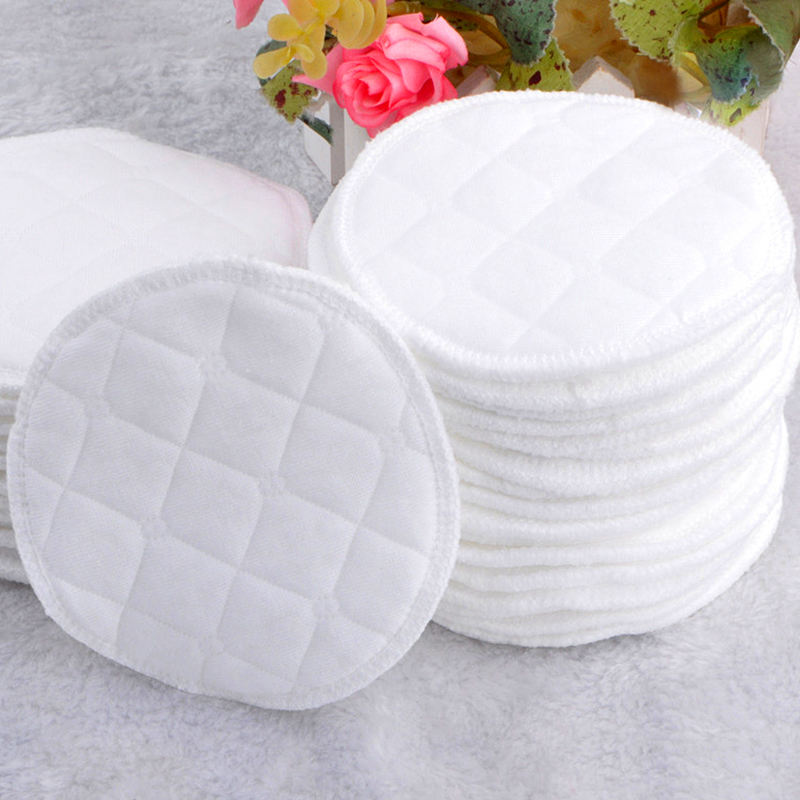 12pcs Pure Cotton Anti-seepage Breast Pads Washable Soft Absorbent Leak Proof Baby Feeding Breast Pads Breastfeeding Accessories