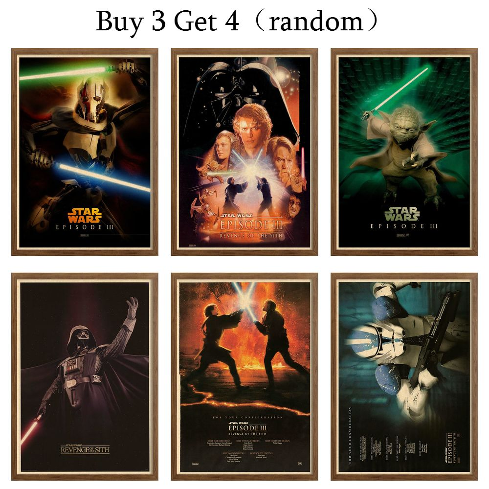 Star Wars Episodeiii Revenge Of The Sith Kraft Paper Print Decal Posters Prints Vintage Style Movie Poster Wall Picture42x30cm Aliexpress
