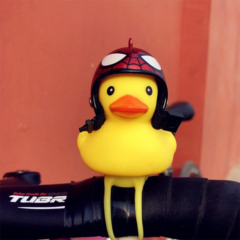 Велосипедный колокольчик мультфильм силиконовая маленькая форма желтой утки Детский велосипедный колокольчик Сияющий руль утка головной ...
