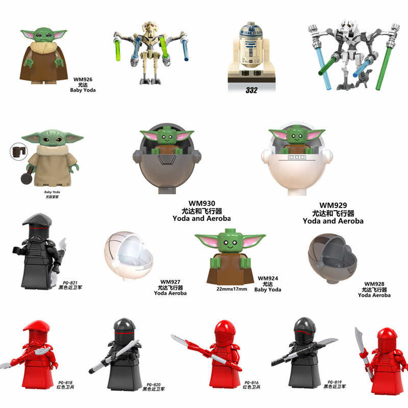 Star Baby Yoda Mandalorian Battle Droid Wars Rouge Een Combat Robot Starwars Trooper Model Kit Bouwstenen Kids Jongens Speelgoed