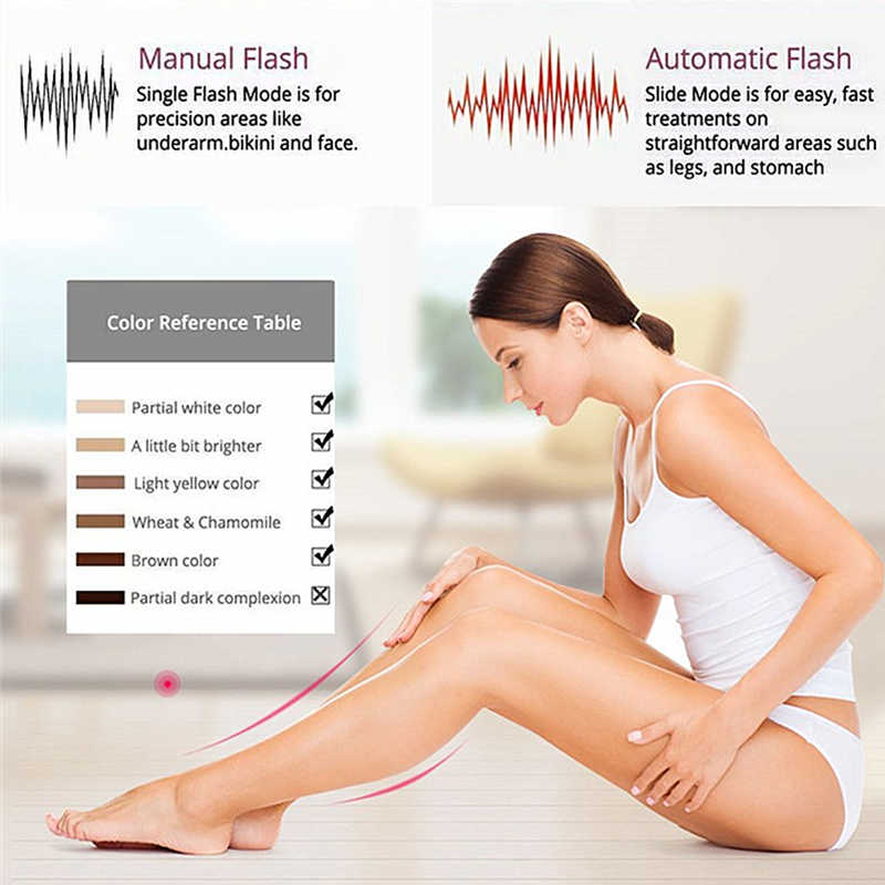 1800000 flash IPL máquina de depilación láser depiladora láser Dispositivo de depilación permanente bikini trimmer depilador un láser de las mujeres
