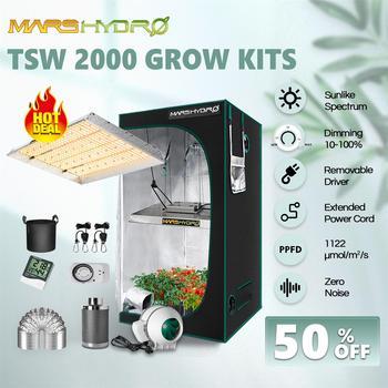 Mars Hydro TSW 2000W LED Grow Light 100x100x180 cm Indoor Tent Grow Kits Full Spectrum Quantum Board  1