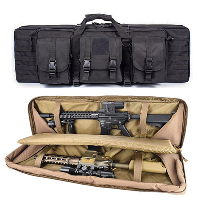 36 47 Inch Rifle Bag Double Gun Case Backpack for M4a1 AR15 AK47 Airsoft Portable Bag Military Shooting Hunting Accessories