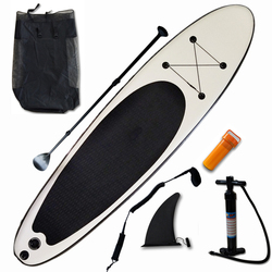 Opblaasbare Stand Up Paddle Board Sup-Board Surfplank Kajak Surf Set 300*75*15 ''With Rugzak, leash, Vinnen, Panddle