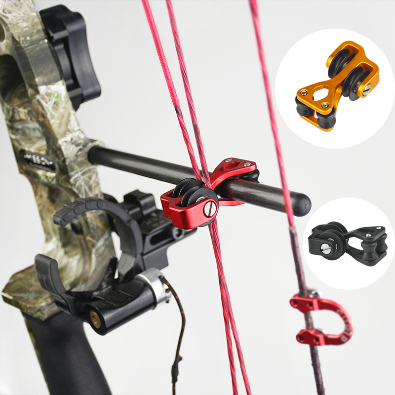 Cable Slide Pulley Compound Bow Bowstring Splitter Roller Glide String Separator