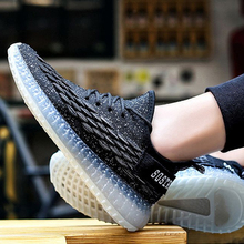 men shoes casual trainers Breathable Trendy Mesh mens Flying Woven Casual tenis fashion sneakers