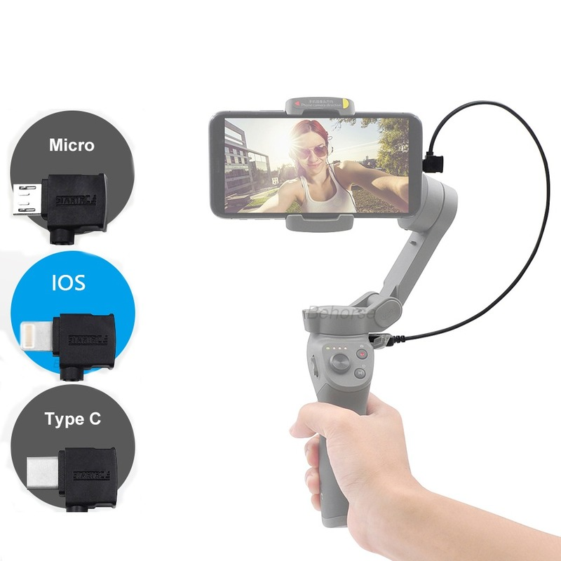 35cm Data Cable USB Line For IOS Micro Type-C Phone For DJI Osmo Mobile 3 Handheld Gimbal Charging For Osmo Mobile 3 Accessories