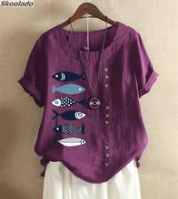 2020 Женская хлопковая льняная блузка для офиса формальные рабочие