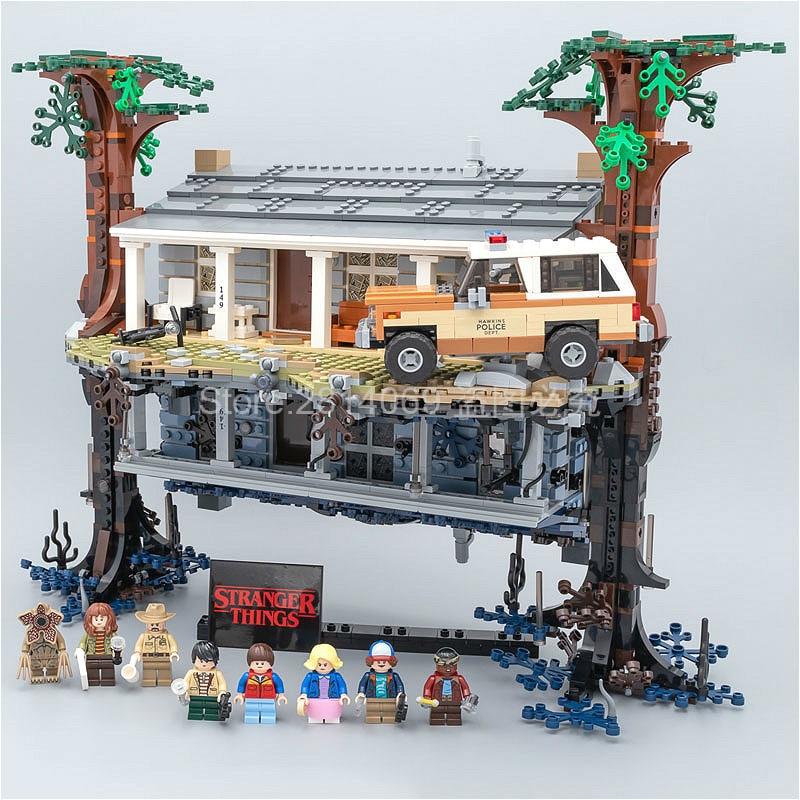 Em estoque 75810 coisas estranhas girando o mundo de cabeça para baixo 25010 2499 peças blocos de construção tijolos conjunto brinquedos natal
