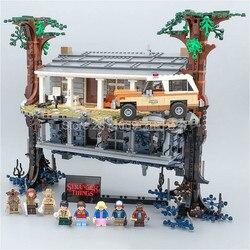 In Voorraad 75810 Stranger Dingen Draaien De Wereld Ondersteboven 25010 2499Pcs Bouwstenen Bricks Set Kerst Speelgoed