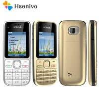 """Oryginalny Nokia C2-01 hebrajski klawiatura ~ duża gorąca sprzedaż ~ odblokowany telefon komórkowy 2.0 """"3.2MP Bluetooth GSM/WCDMA 3G telefon darmowa wysyłka"""