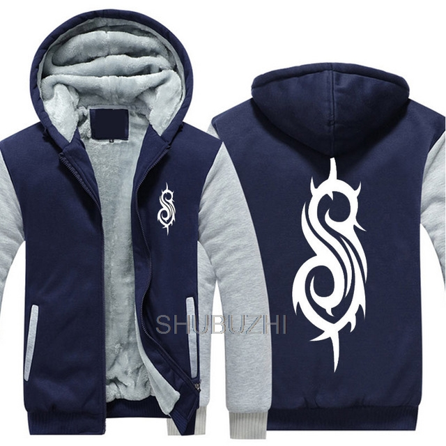 New Slipknot Rock Metal Band Hoodie Zipper Coat Winter Mens Jacket Sweatshirts