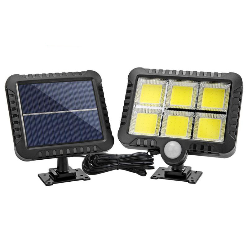 120LED COB Solar Lamp PIR Motion Sensor Wall Light Outdoor Waterproof Garden Lamp Street Path Courtyard Wall Lamp Night Lighting