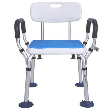 Aluminum Alloy Shower Chair Bathroom Chairs for Handicap Disabled Elderly Height Adjustable Medical Bath Seat Foot Stool