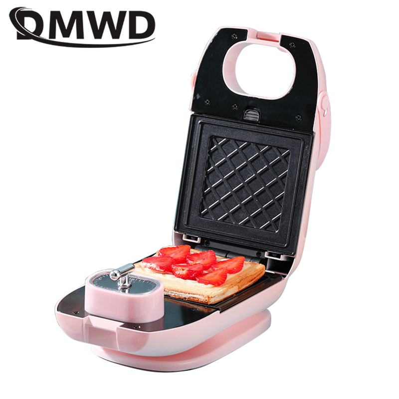 DMWD Multifunctional Waffle maker Sandwich Donut Eggettes maker DIY breakfast baking machine non-stick baking pan tosater EU US image