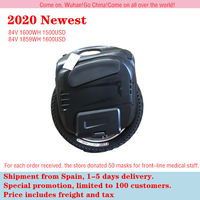 2020 Newest Gotway Msuper X Electric unicycle 1600WH 84V/100V 1230WH Max speed 55km/h+,2000W motor,max 4000W,19inch Freeshipping