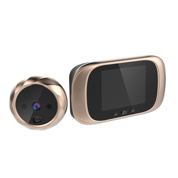 Peephole Viewer Door Bell Long Standby Video Intercom Security Camera Night Vision HD - discount item  25% OFF Intercom