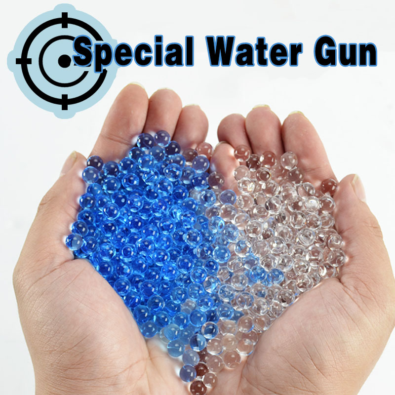 Toys Crystal bullets 13000Pcs/pack 7-8mm Water Guns Pistol Toys Growing Crystal Water Balls Mini Round Soil Water Beads 1