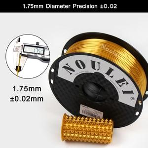 Image 5 - Noulei Quality Brand 3D Printer Filament Silk 1.75 1KG PLA Silky Rich Luster Metal Gold Copper Plastic Filament Materials