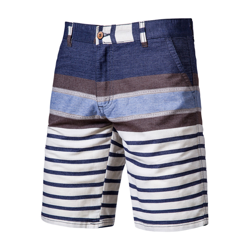 Summer 2020 New Strip Shorts Men 100% Cotton Fitness Shorts High Quality Mens Shorts Fashion Causal Short Men Pants 9 Colors