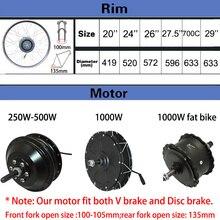 Electric Bike Conversion Kit 500W Motor Wheel 48V 250W 350W 500W Ebike Kit Front/Rear Hub motor 350W 36V E Bike Motor 26inch LCD
