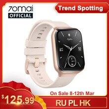 70mai-reloj inteligente deportivo con GPS para hombre, pulsera con control del ritmo cardíaco, Bluetooth, resistente al agua hasta 5atm, recordatorio de llamadas, 70mai