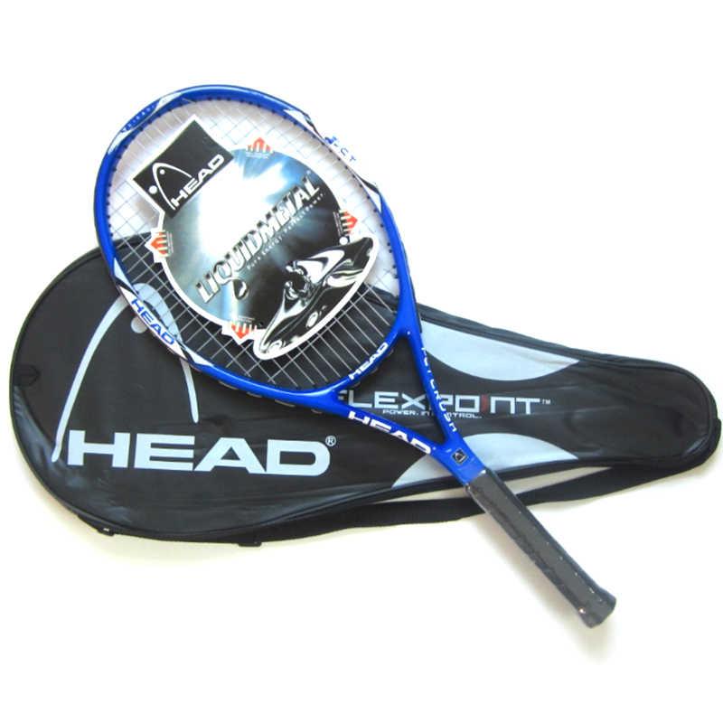 مضرب تنس أصلي من ألياف الكربون احترافي مع حقيبة مجانية سلسلة مفرغة مضارب للتنس