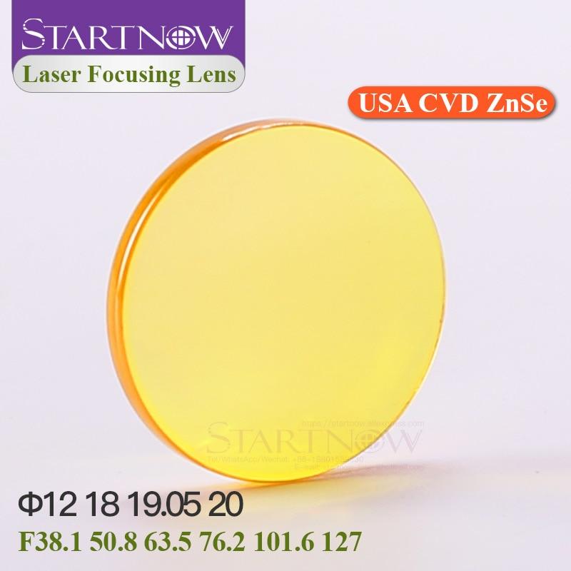 """Startnow USA ZnSe CVD Laser Focus Lenses 20mm 19 18 15 12 F50.8 101.6 2"""" 2.5"""" 3"""" For Cut Engraving CO2 Laser Optic Industry Lens focus lens lens focusers lens 20mm - title="""