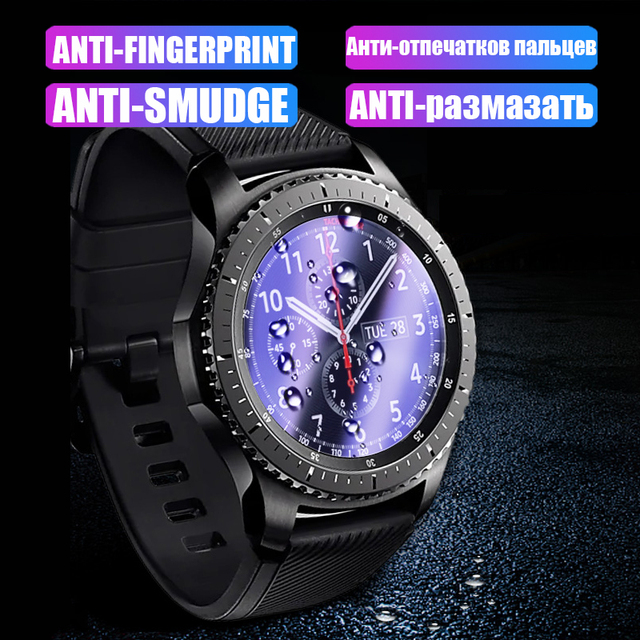 2.5D HD Protective Film For Samsung Galaxy Watch 42mm 46mm Gear S2 S4 Sport S3 Classic Frontier Screen Protector Tempered Glass 2
