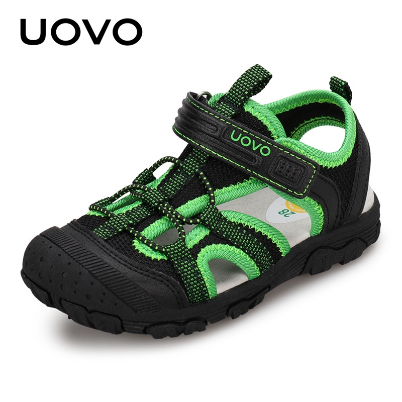 New Arrival Kids Fashion Sandals  Soft Durable Rubber Sole UOVO Kids Shoes Comfortable Boys Sandals With #25-35