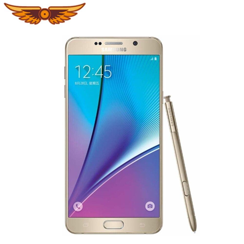 Оригинальный разблокированный Samsung Galaxy Note 5 N920A/C Восьмиядерный 5,7 дюймов 4 Гб ОЗУ 32 Гб ПЗУ 16.0MP LTE 4G Android смартфон мобильный телефон