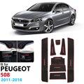 Противоскользящий резиновый коврик для ворот Peugeot 508 508sw 508RXH 2011 2012 2013 2014 2015 2016 2017 2018 дверной коврик