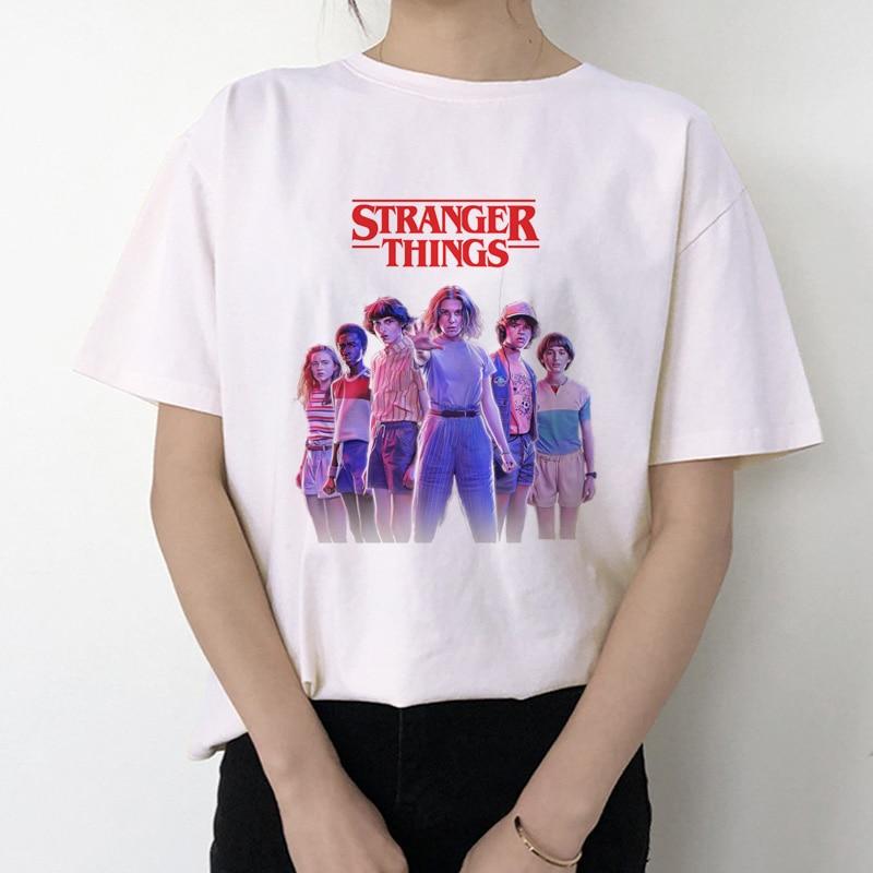 2019 Stranger Things 3 T Shirt Women New Tshirt Eleven Gothic Female Clothing Hip Hop Femme 2019 Streetwear Cartoon Funny Kawaii
