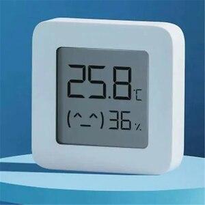 Image 5 - Термометр Xiaomi Mijia 2, Bluetooth датчик температуры и влажности, цифровой гигрометр с ЖК дисплеем, измеритель влажности, работает с приложением Mi home