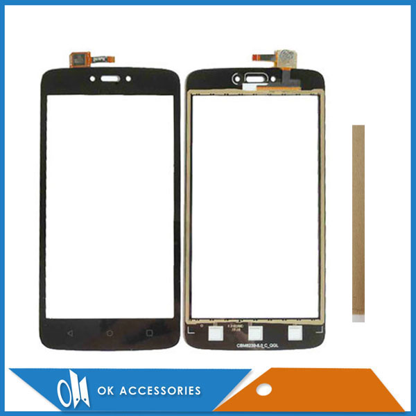 5.0 Inch For <font><b>Motorola</b></font> Moto C XT1750 XT1755 <font><b>XT1754</b></font> Touch <font><b>Screen</b></font> Glass Digitizer Black Color With Tape image