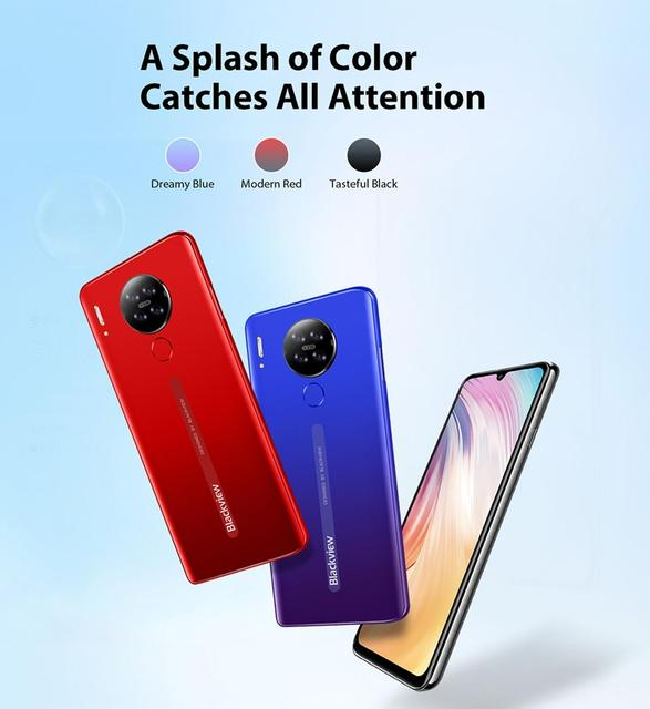 """Blackview A80 Quad Rear Camera Android 10 Phone 6.2"""" Waterdrop Screen 2GB+16GB MTK6737 Quad Core 4G Mobile Phone 4200mAh Battery 2"""